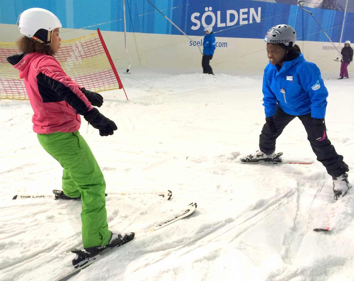 Stacy instructing at Snow Camp