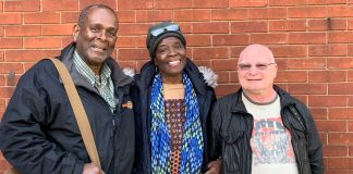 author of book about Caribbean WW2 pilot with colleagues fro Caribbean Labour Solidarity Organisation