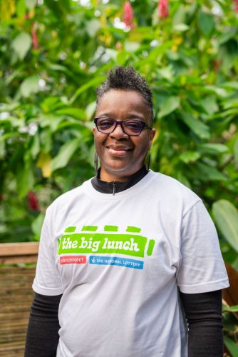 Carole a Brixton Big Lunch walker