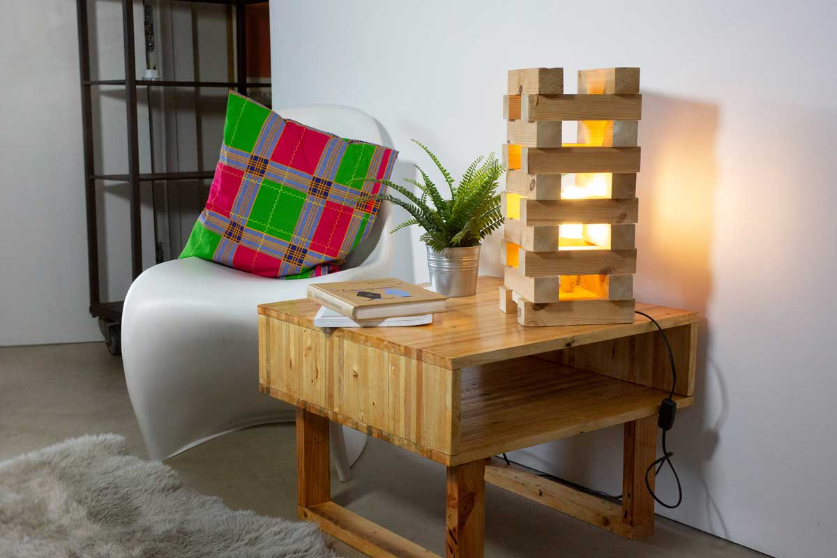 Table made from recycled wood
