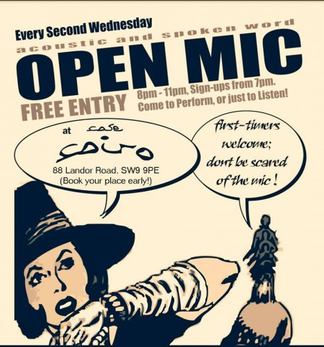 Cafe Cairo OPEN MIC evenings @ Cafe Cairo | England | United Kingdom