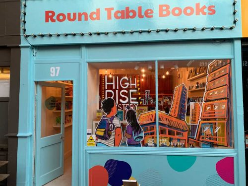 Shop front in Brixton village for Round Table Books