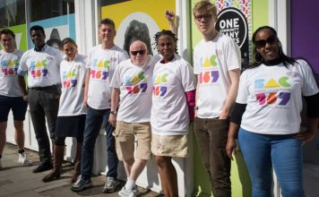 Brixton Advice Centre staff in their fundraising tee shirts