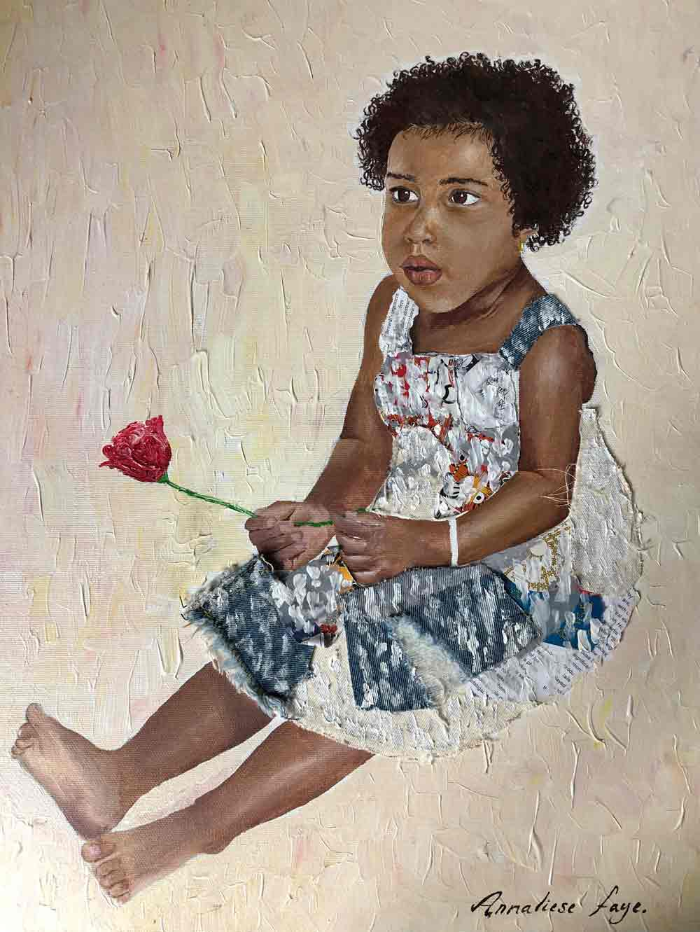 Girl with Flower ANNALIESE FAYE (self taught)Judges' favourite