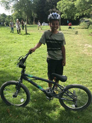 boy with BMX bike