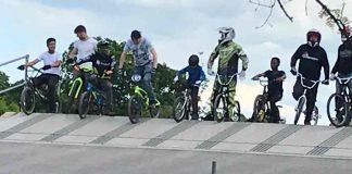 Brockwell Park BMX track race