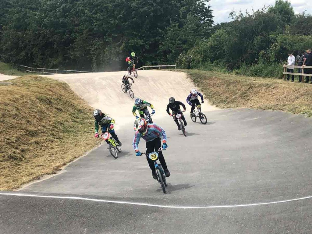 Brixton BMX riders in action