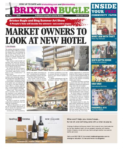Brixton Bugle July 2019 front page