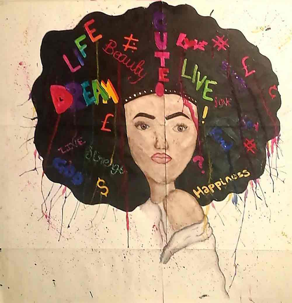 Afros JADA SIMMS (self taught)