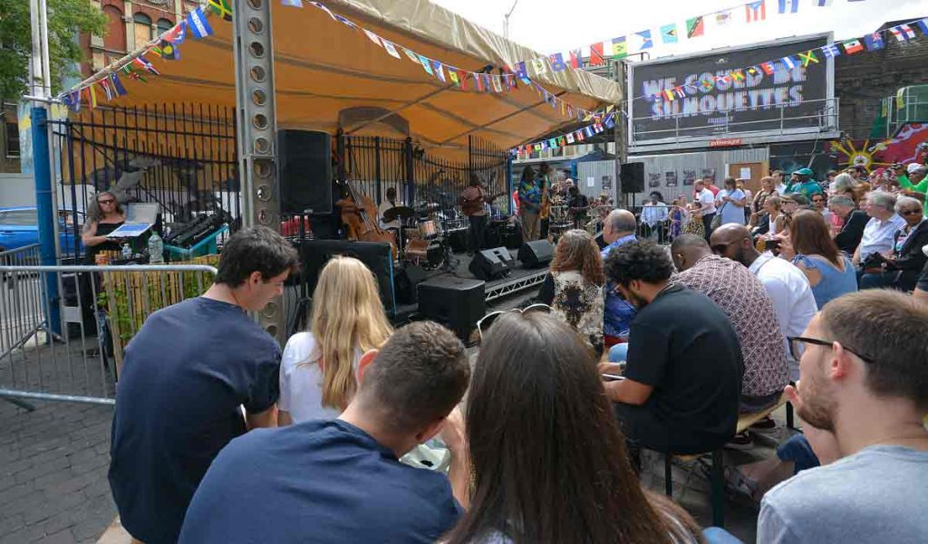 Grass Roots play outside Brixton Villag