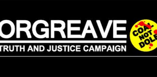 Orgreace Truth and Justice Campaign header