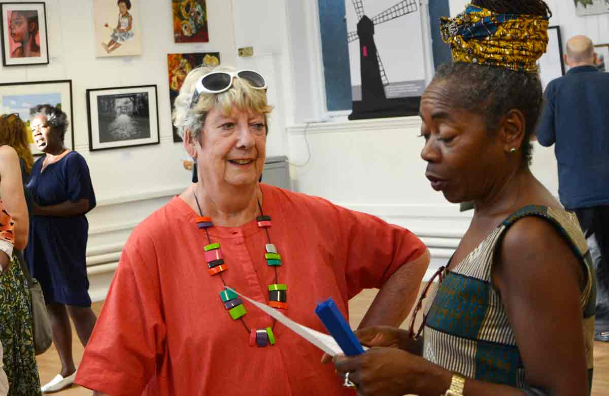 Editor Linda Quinn (left) with Sonia Winifred, Lambeth council cabinet member for equalities and culture
