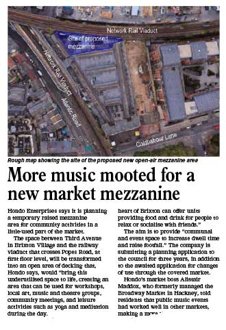 extract from Bugle reporting on the venue