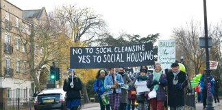 Cressingham Gardens protest march 2017