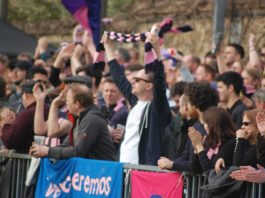 Dulwich Hamlet fans at a game
