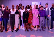 Group photo at launch of Elevate - a programme of cultural activity for young people