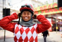 KHADIJAH_MELLAH the first British Muslim woman to ride at Goodwood
