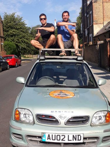 TheBrixton pair who are setting off to Mongolia in a Nissan Micra