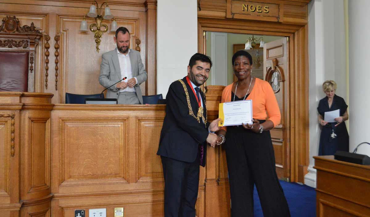 Picture: Lambeth Mayor Cllr Ibrahim Dogus Wonett Boreland. Ms Boreland is the Chair of Governors at Granton Primary School in Streatham