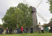 Tai Chi enthusiasts at Brixton Windmill Gardens