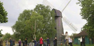 Tai Chi enthusiasts at Brixton Windmill Gardens