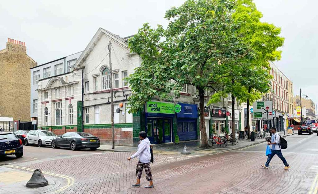 The former Temperance Billard Hall on Coldharbour Lane