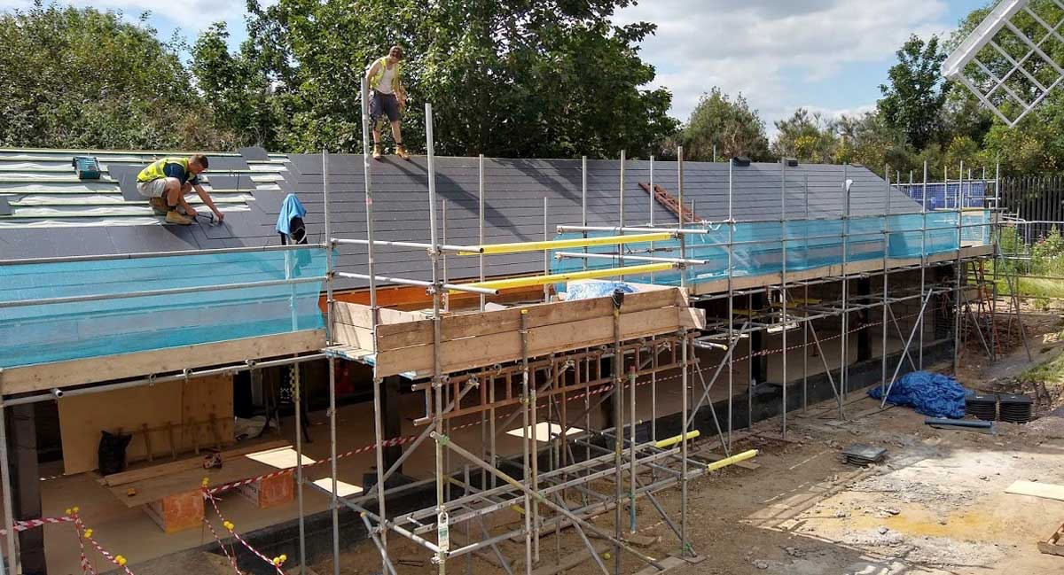 Roof goes on at Windmill Education Centre