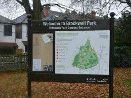 Brockwell Park sign