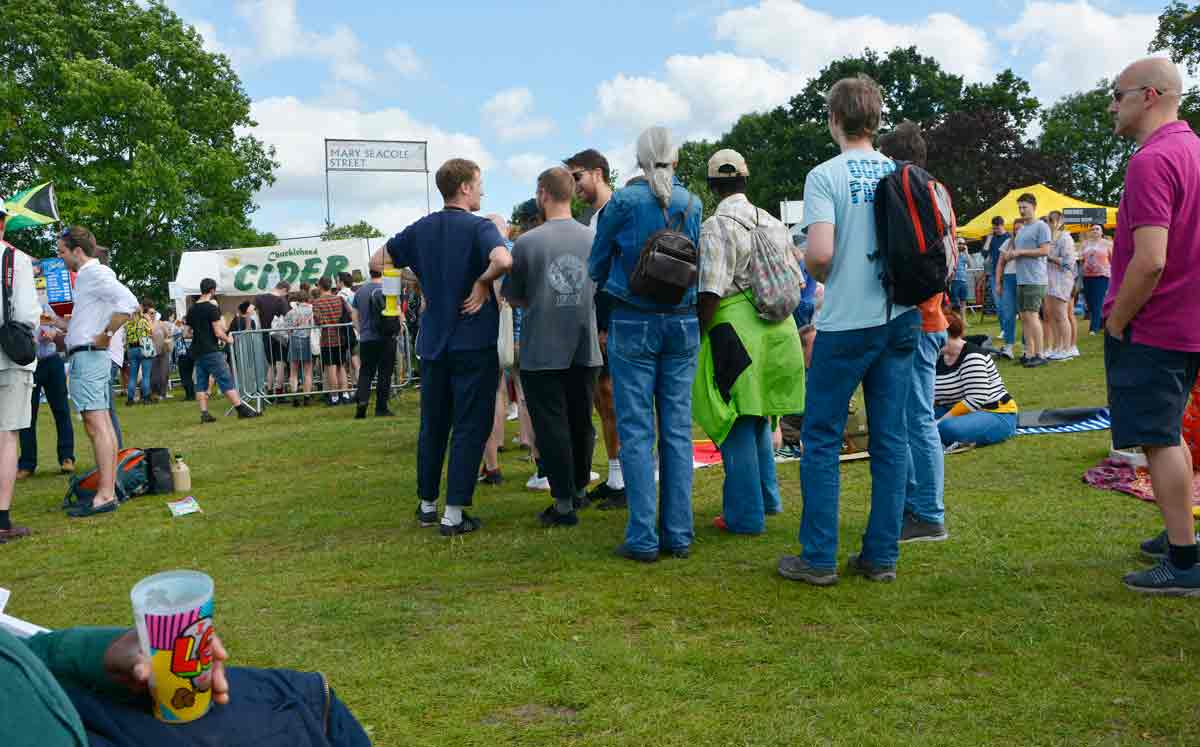 cider queue at Lambeth Country Show