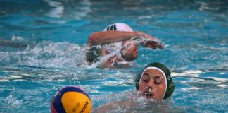 Brockwell Water Polo in the pool