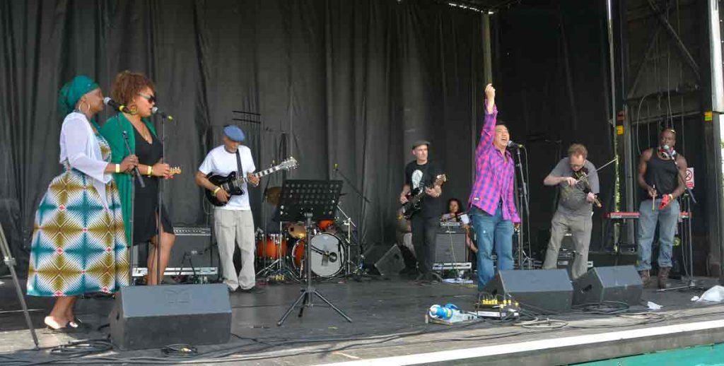 Raw Sound Collective on the Village Green stage