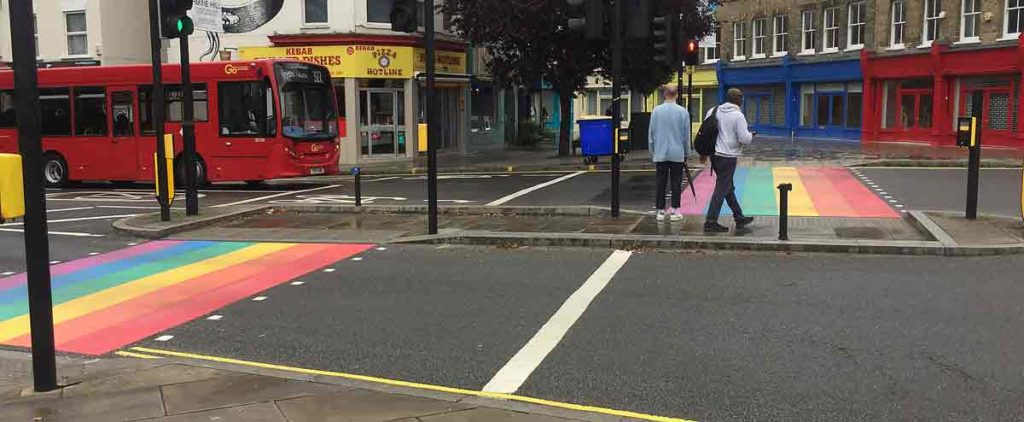 Herne Hill rainbow crossing