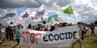Stop Ecocide banner XR Blackheath event