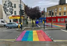 Rainbow road crossing