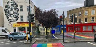 Rainbow road crossing