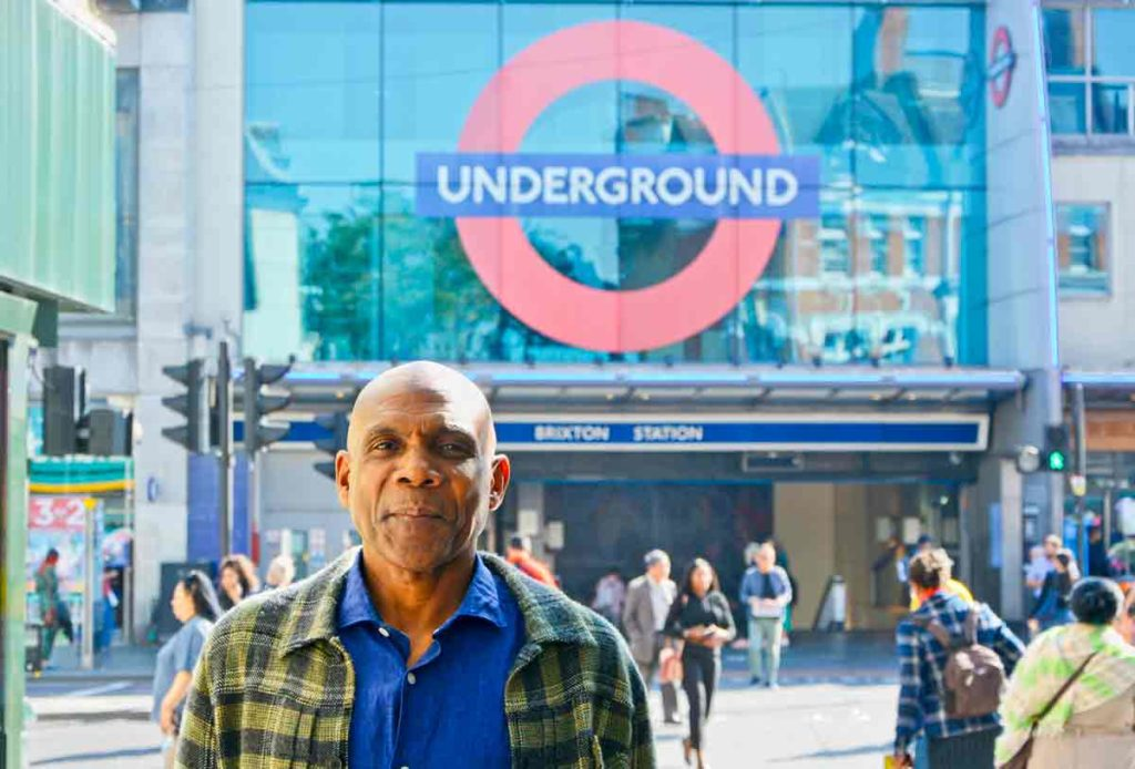 Denzil Forrester, Brixton Tube in background