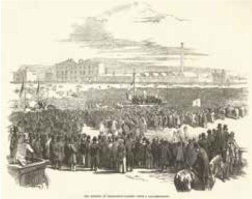 old photo of gathering at Kennington