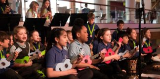 Local school pupils playing at the Lambeth Sounds music festival