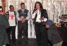Pastor LorraineJones (centre)