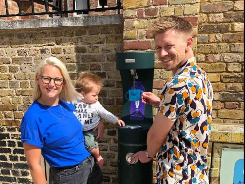 Refill Brixton Launch in Windrush Square