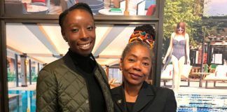 Eunice Olumide (left) with Cllr Sonia Winifred