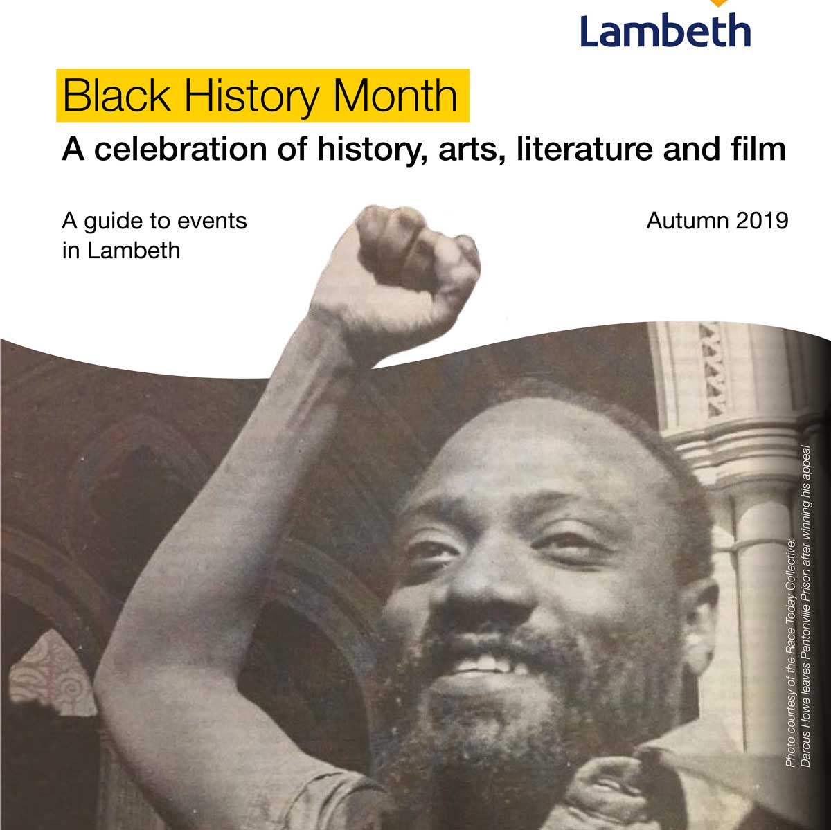 cover black history month brochure )October 2019