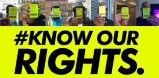 Know Our Rights campaign material
