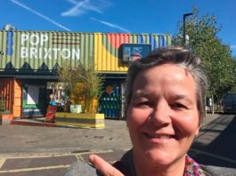Project coordinator Abs outside Pop Brixton