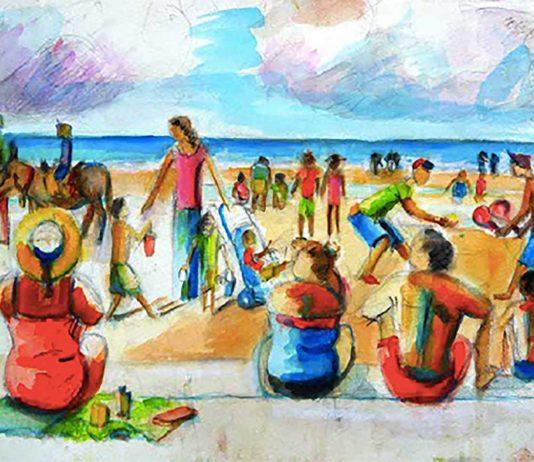 John Bateson painting to promote Lambeth Open Weekend