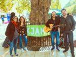 Mamma Green band promoting Brixton Oxjam