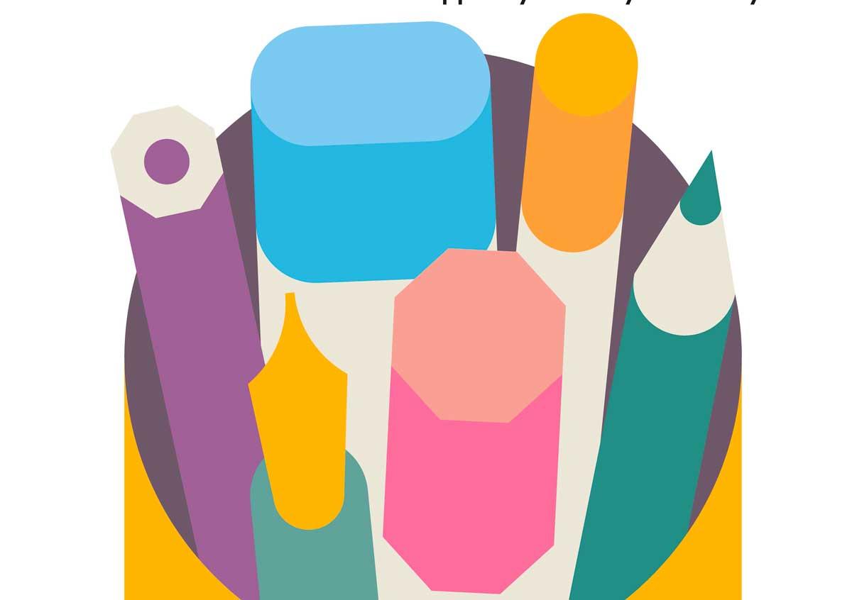Illustration of pencils for parent art class