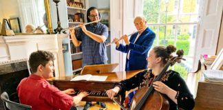 Matthew O'Keefe of Brixton Chamber Orchestra performs with friends