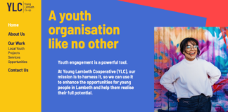 young Lambeth coop web screen shot