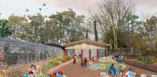 Computer generated image of the new barn at Brockwell Park Greenhouses